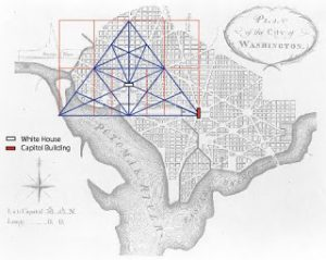 Map of Washington with Pyramid